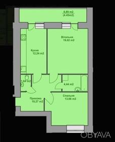 2-комнатная квартира, 65 кв.м